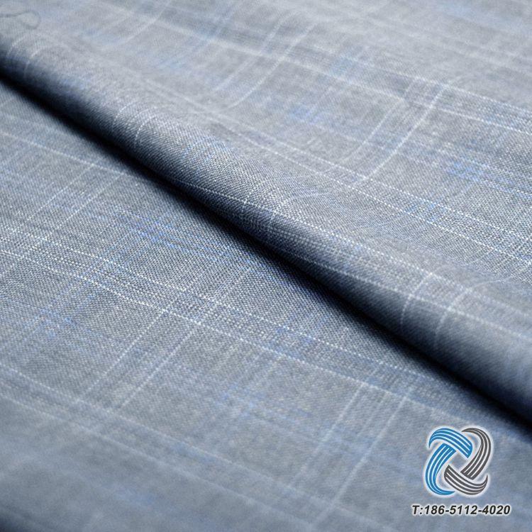 厂家直销 精纺呢绒毛涤格子休闲西装 羊毛面料 高端私人定制 现货