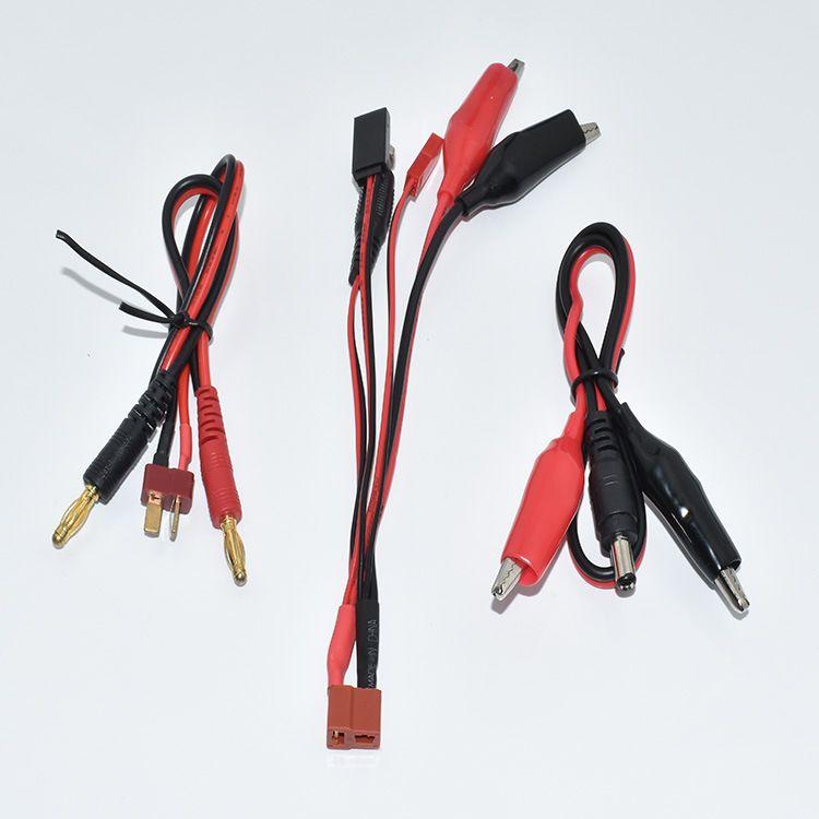 厂家直销无人机充电线T插公母线JTS插头线鳄鱼夹线无人机套线