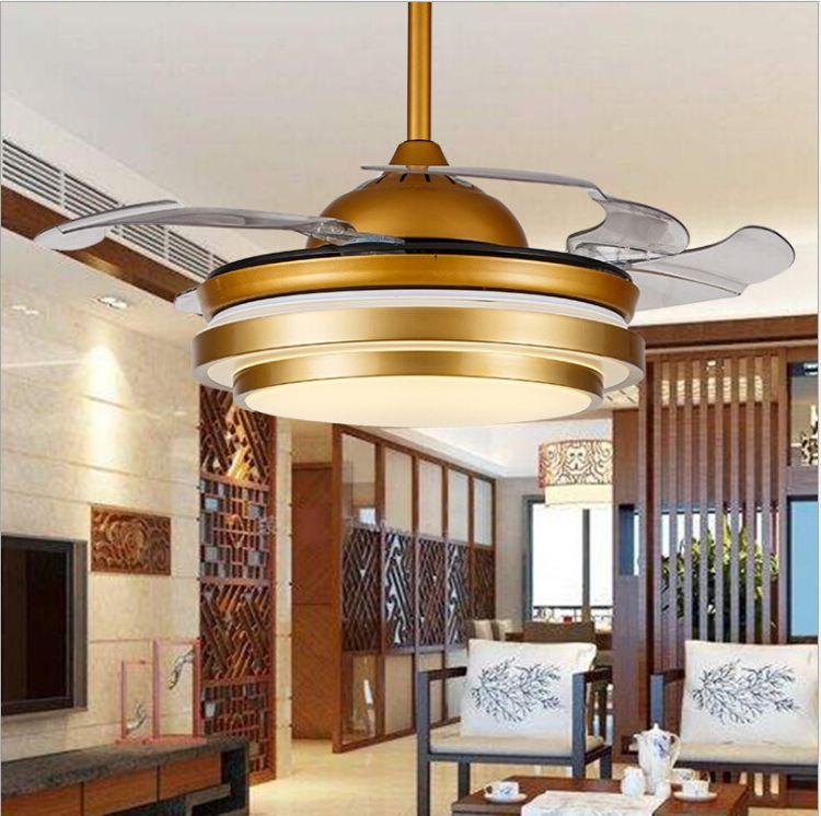 LED隐形吊扇灯简约带电风扇吊灯餐厅风扇灯客厅卧室家居电扇灯