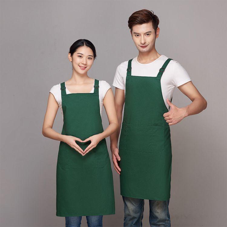 厂家直销防水围裙定做烧烤店餐饮店水果店围裙个性印字logo绣字