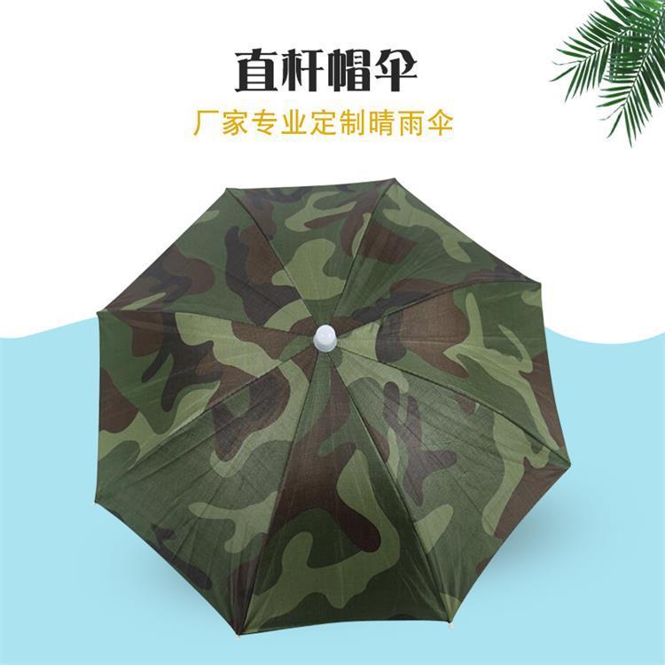 现货批发防晒防紫外线帽子伞 撑开直径55cm直杆帽伞垂钓雨伞 雨伞