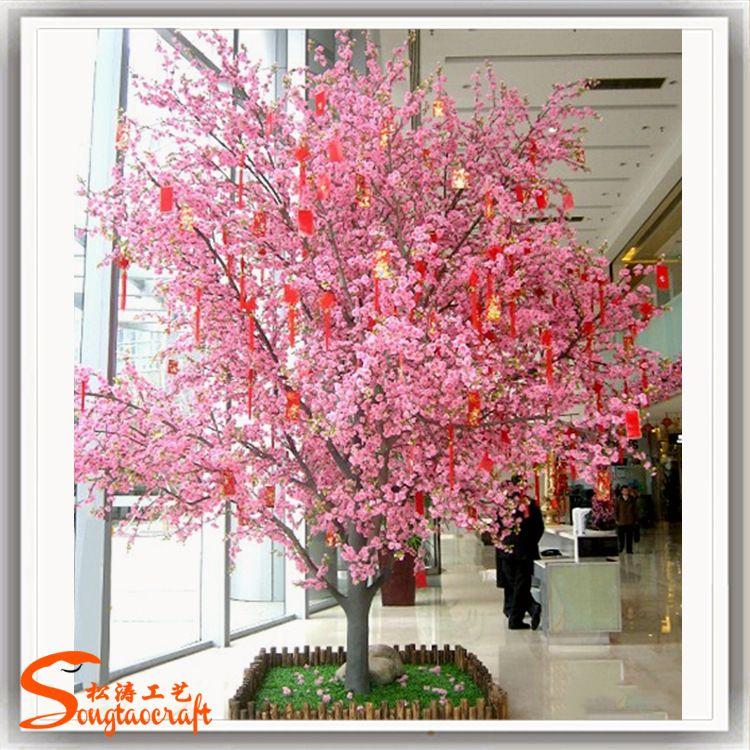 厂家直销仿真桃花树商场广场活动庆典装饰假桃花树许愿树仿真花树