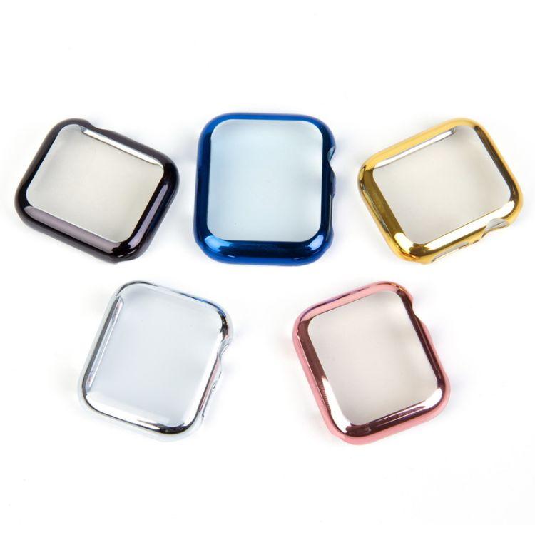 适用苹果4代手表壳三代保护外壳PC电镀壳1代2代手表保护套iwatch3