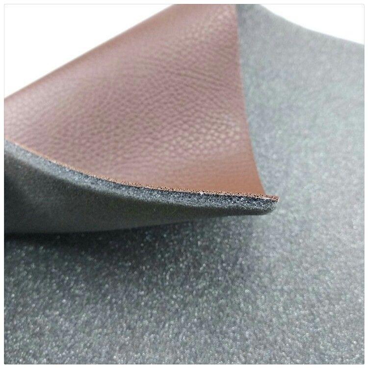 PVC人造合成革复合海绵用于汽车沙发家具坐垫舒适优雅柔软材料 强圣厂家批发