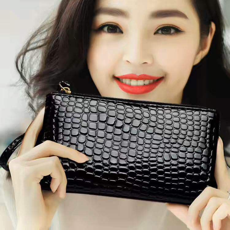厂家促销新款女士pu手拿钱包包韩版时尚零钱手机包外贸包一件代发