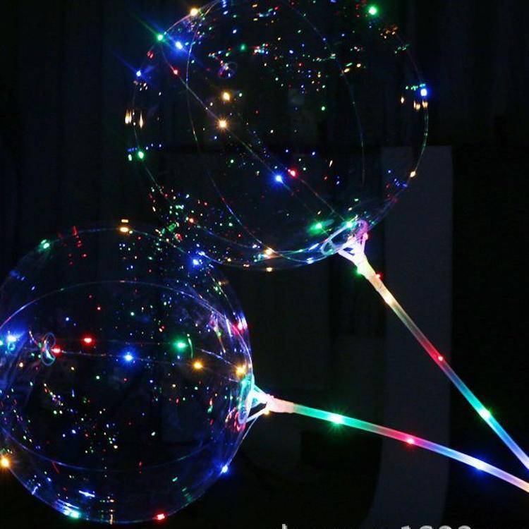 爆款波波球发光带灯led灯  装饰情人节礼品网红气球批发夜市热销