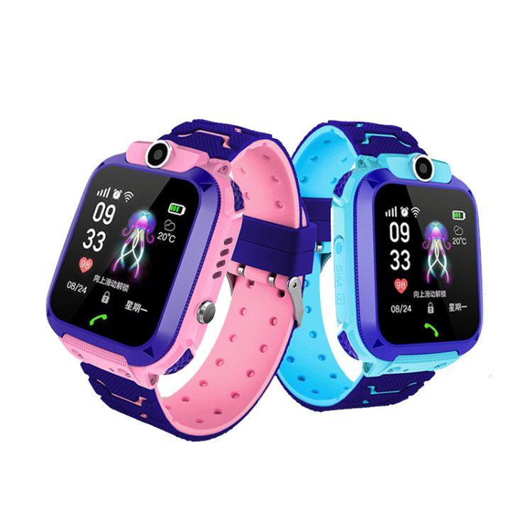 新款六代儿童定位手表6代智能通话手表电话英文多重定位工厂代发