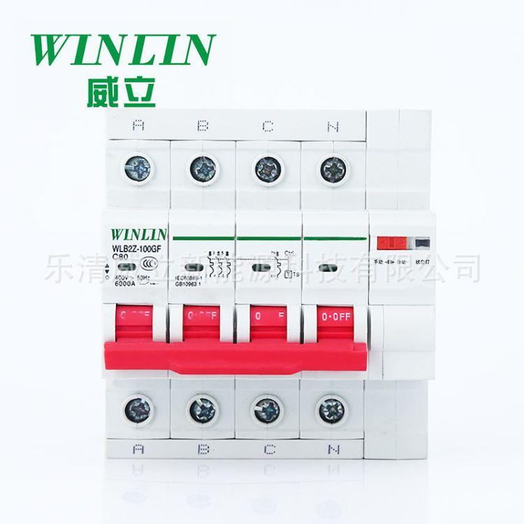 厂家生产光伏专用125A.80A重合闸断路器器.
