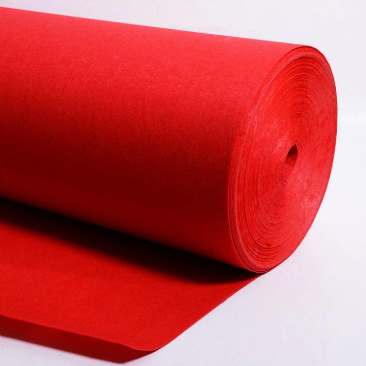 厂家直销 一次性婚庆红毯 高档外贸尾单 结婚展会红地毯 现货