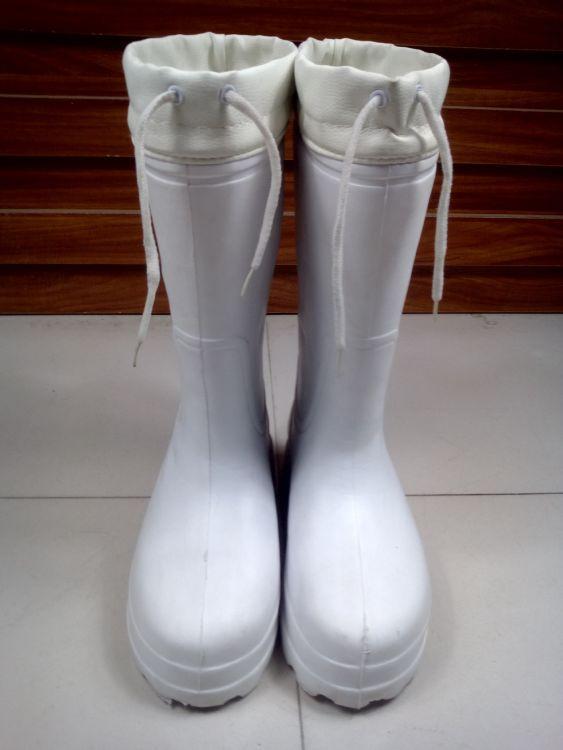 高筒泡沫黑白雨鞋 防水耐油防滑EVA劳保雨鞋耐酸碱水鞋