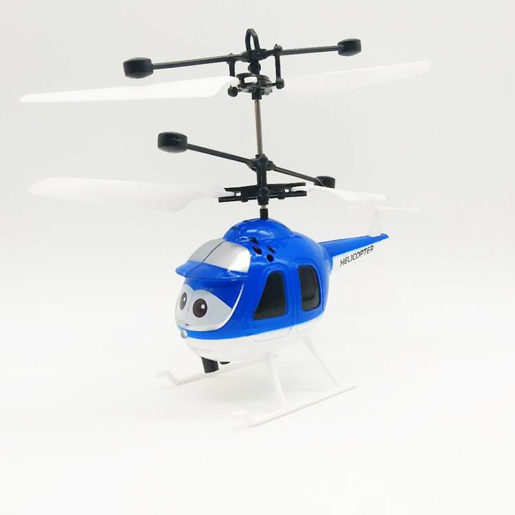 新奇特感应卡通直升机发光充电悬浮直升机感应卡通飞机儿童玩具