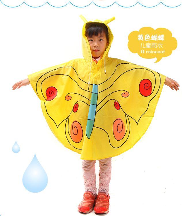 定制韩版卡通儿童斗篷雨衣  pvc动物造型雨披