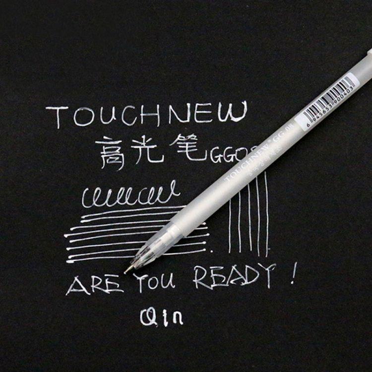 正品高光笔TOUCH NEW高光笔DIY创意黑卡手绘白色马克笔跨境专供