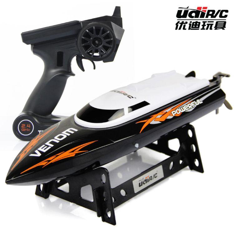 优迪UDI001遥控高速船 2.4G水上快艇模型电动船儿童玩具竞技飞艇