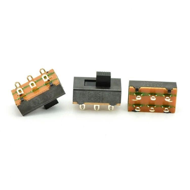 三档六脚LED电源开关SS23F19 SS22L05大电流拨动开关厂家批发