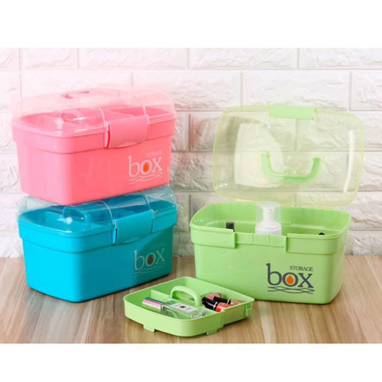 时尚家用急救箱桌面收纳盒工具箱多功能收纳箱手提塑料盒药箱定做