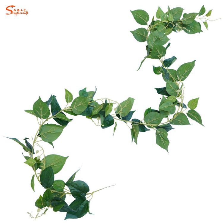 上海仿真万年青藤条藤蔓厂家人造花藤叶装饰批发壁挂仿真植物藤条