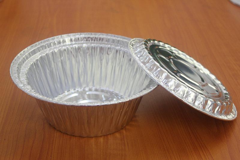 7C特强型煲仔饭铝箔碗+铝箔盖 锡纸碗 铝箔碗一次性外卖打包餐盒