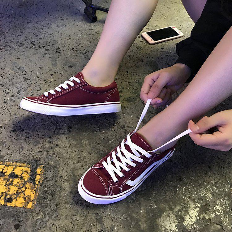 小白鞋休闲帆布鞋女韩版平底板鞋白色布鞋女学生球鞋潮