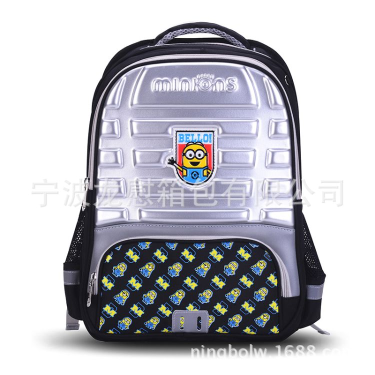 【专业工厂】现货小黄人压膜减负儿童小学双肩学生书包背包包包
