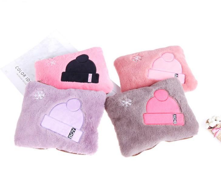【帽子款系列暖手宝】便携冬季热水袋暖手可拆洗毛绒充电防爆