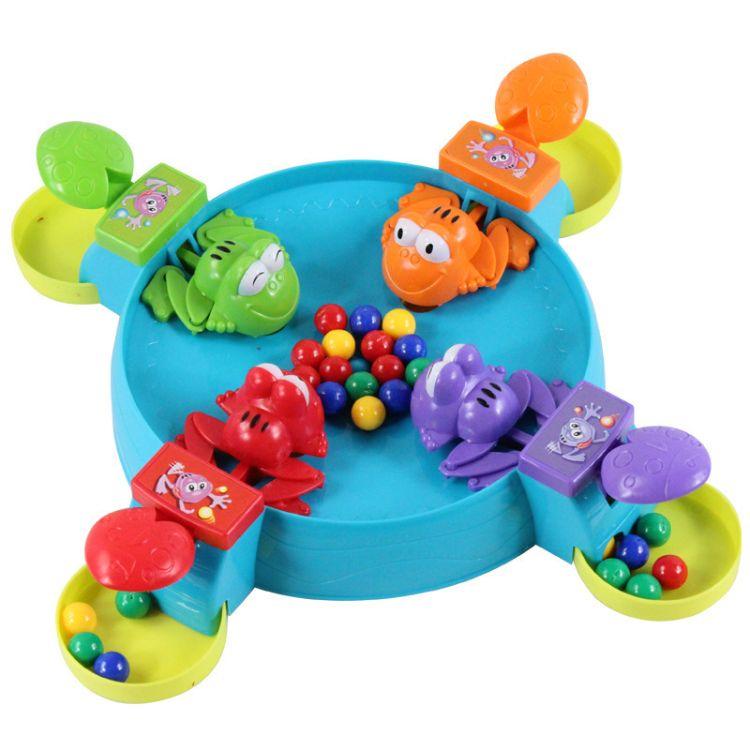 抖音同款青蛙吃豆玩具大号双人亲子互动桌面儿童魔方多人益智贪吃