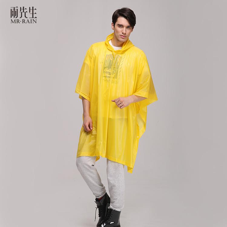 雨先生 PVC斗篷雨衣徒步雨衣雨披 户外无袖旅游创意雨衣 厂家直销