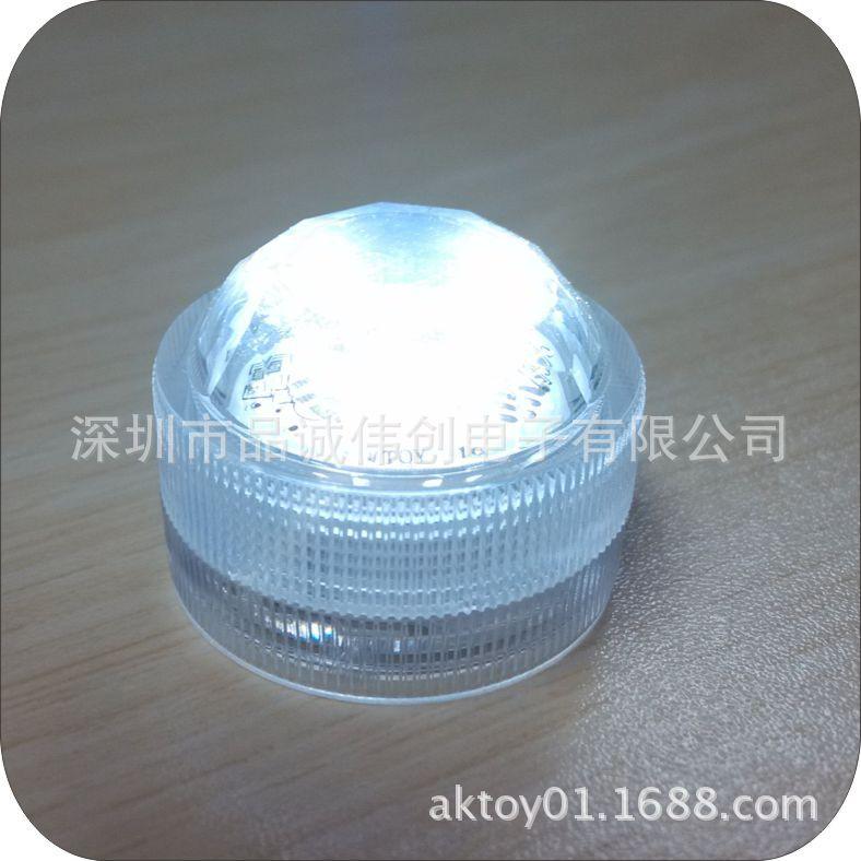 新品上市  LED钻石防水灯  电子蜡烛灯 发光潜水灯 圆形水底灯