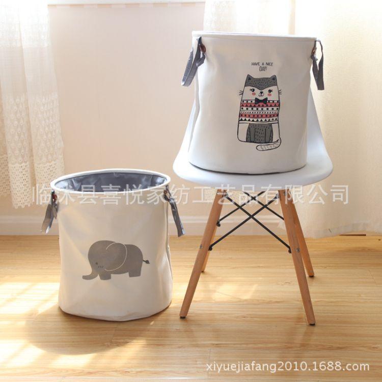 加厚EVA家居脏衣篮收纳桶玩具收纳 脏衣服收纳筐布艺脏衣桶