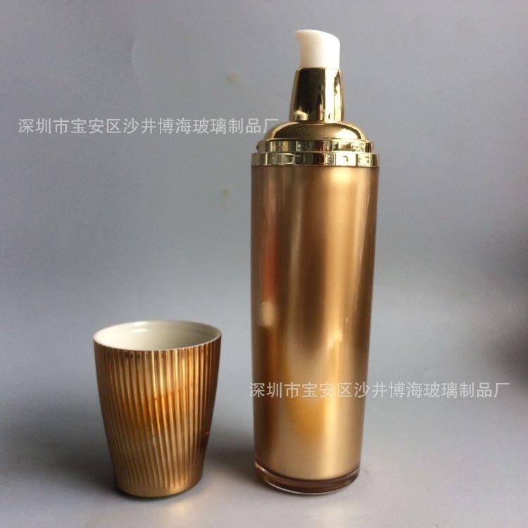 广州化妆品玻璃瓶喷涂加工厂 精油瓶 管制瓶 膏霜瓶 套装瓶喷涂
