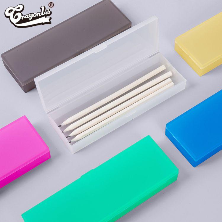 厂家直销热卖儿童多功能铅笔盒 透明笔盒 pvc塑料文具盒批发定制
