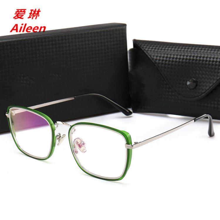 2018新款大方框太阳镜网红同款眼镜框架透明片平光镜代发1718065
