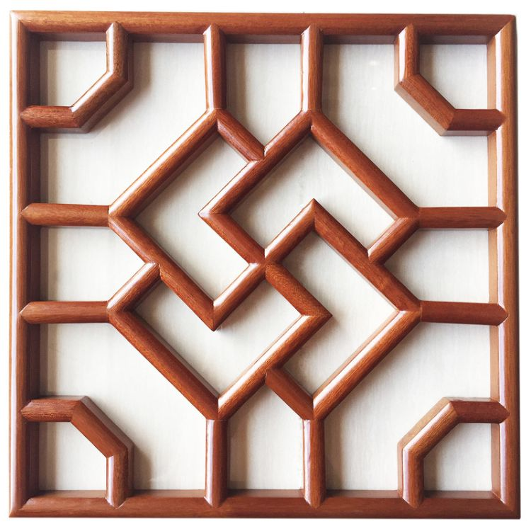 广州厂家定制纯实木花窗 中式天花灯箱花格 仿古隔断品质新款