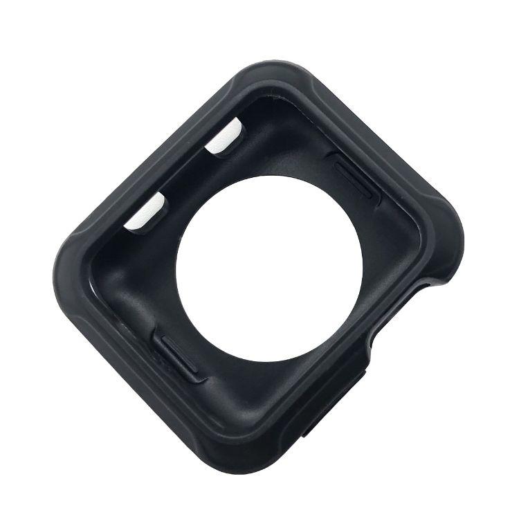 适用于TPU苹果手表壳 保护套 透明白色粉色黑色 软壳1/2/3代全屏