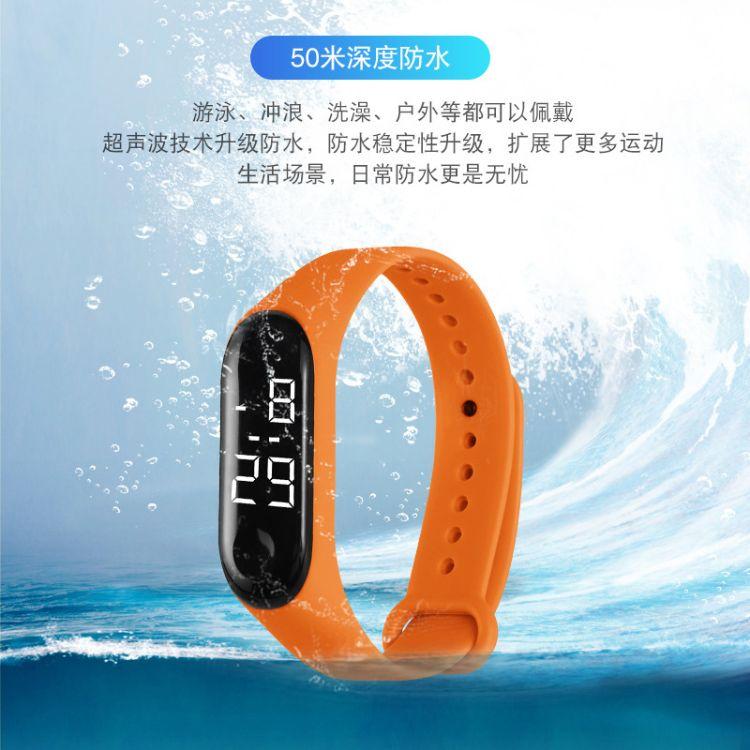 2019新款厂家直销防水LED小米3儿童学生电子手表一件代发