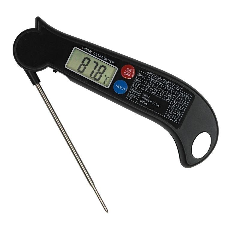 和昌硕 超薄款折叠探针烧烤温度计 厨房食品电子探针式 温度计