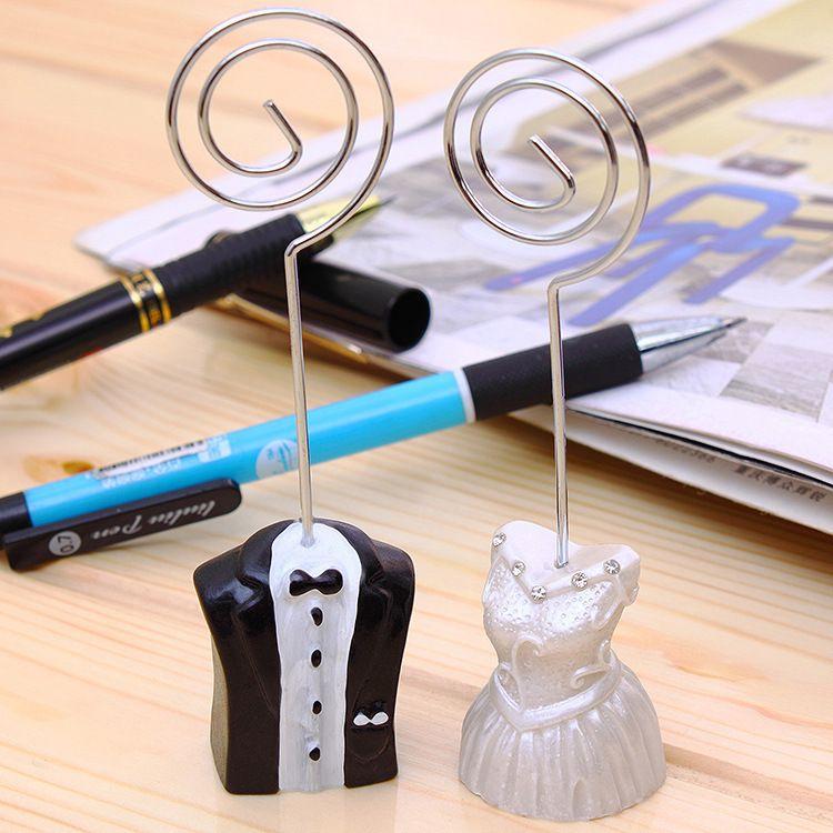 创意礼服新款席位夹新郎新娘喜卡夹婚礼精品用品高端席位卡杯卡