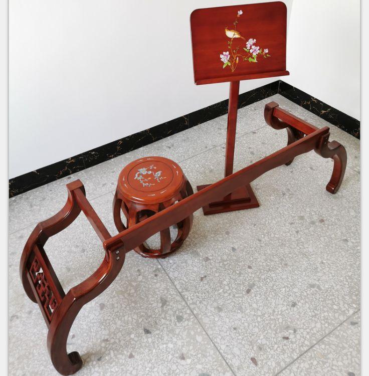 家用古筝支架 实木琴架 便携式立式琴架 琴凳古筝配件