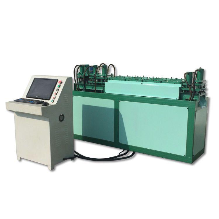 快装箱成套生产设备-出口钢带木箱包边机