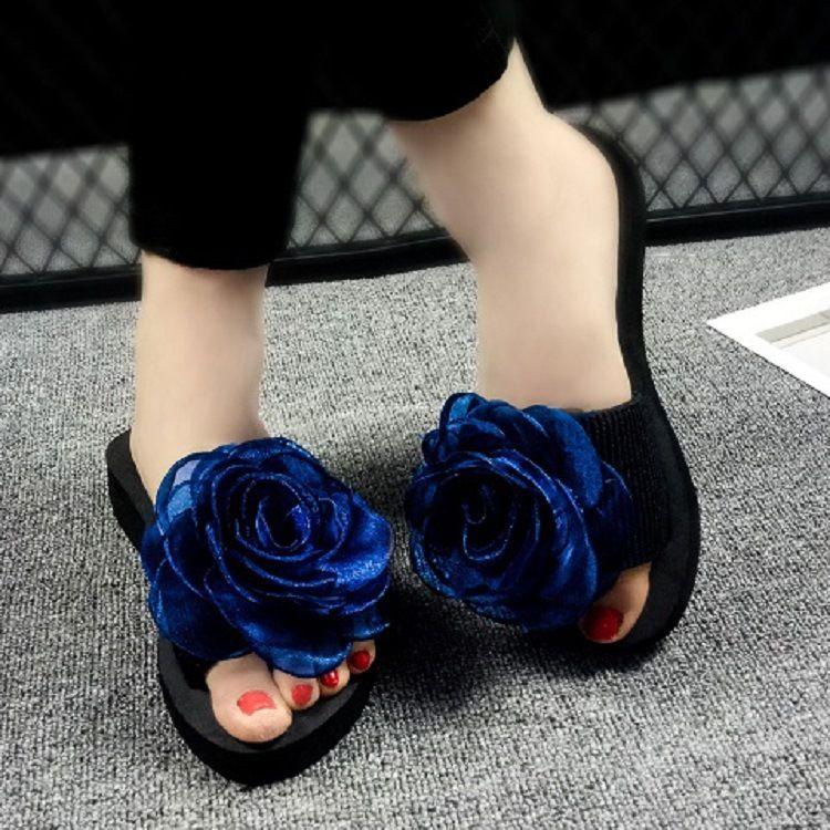 binsally批发凉拖鞋女2018夏季时尚外穿沙滩拖鞋平底松糕一件代发