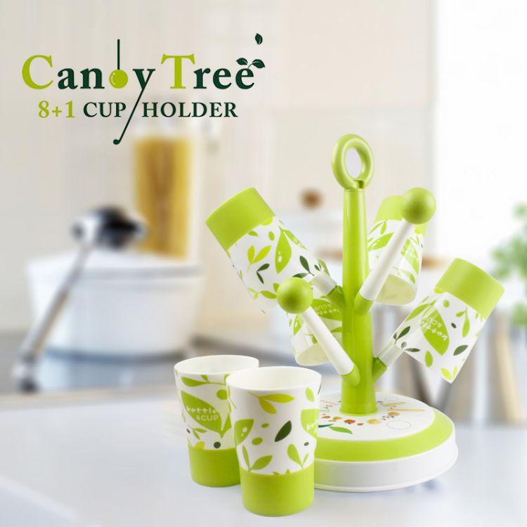 创意树形塑料杯架 沥水酒杯架塑料杯挂架 8+1杯架套装
