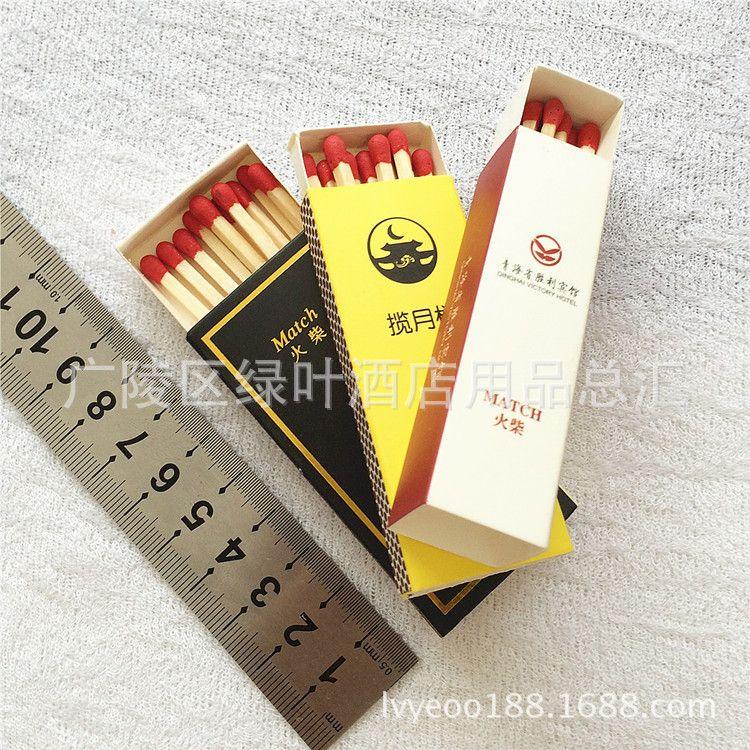 酒店客房定制 一次性火柴盒装可以印logo 生日火柴订做