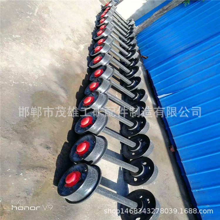 定制矿车单轴轮 铁路实心轨道轮 工矿铁路配件 单边滑轮轨道轮