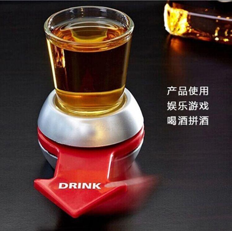 spin the shot箭头转盘酒具 创意酒吧娱乐场所指针转盘罚酒酒具