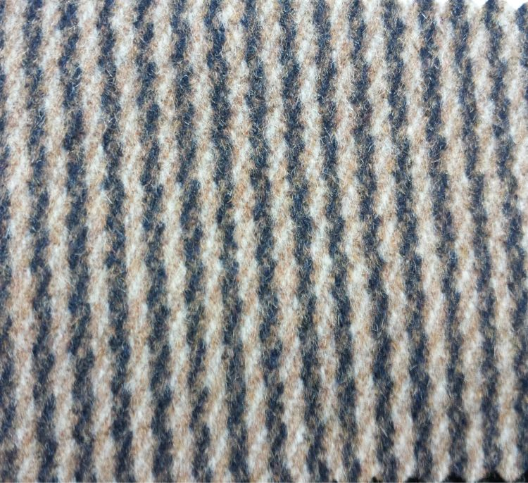 粗纺 麦呢小横条 顺毛呢面料 秋冬面料 现货供应