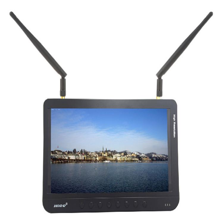 5.8G图传一体机9寸FPV高清航拍显示器内置锂电池源头厂家航拍设备