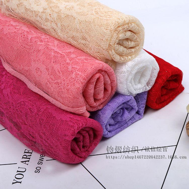 厂家批发外贸蕾丝小牡丹花网纱布料布打底衫披肩服装面料