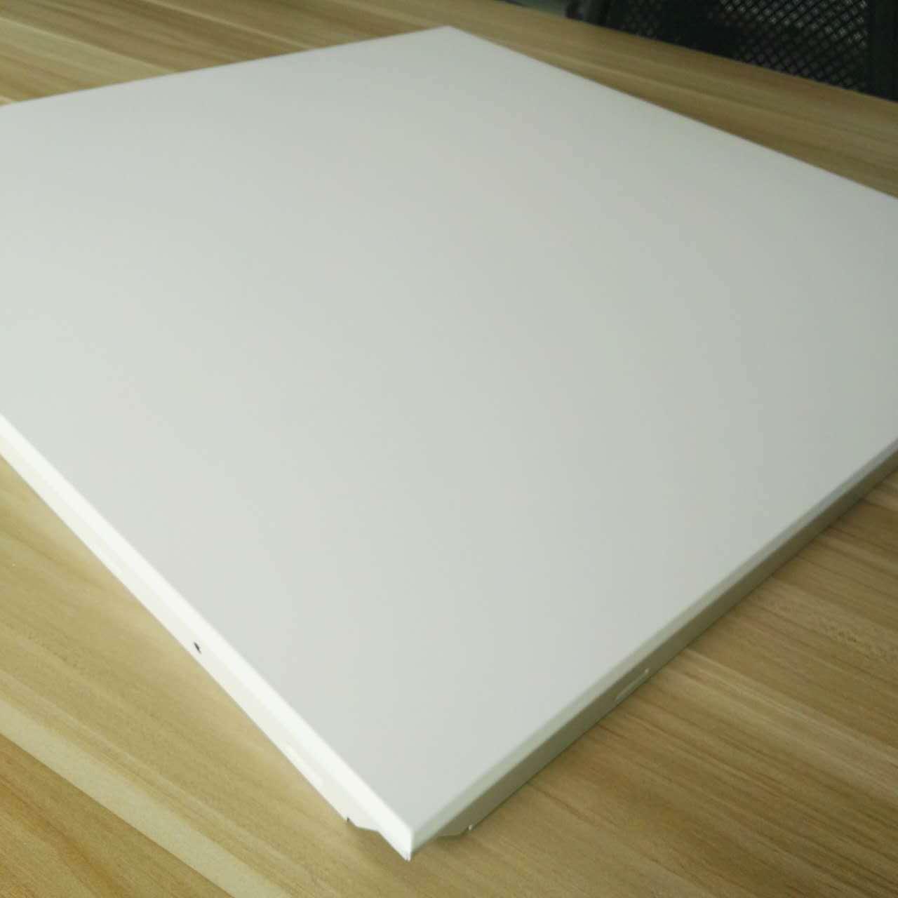 芜湖铝天花  办公室无尘60cm铝盲板吊顶  微孔吸音工装铝天花