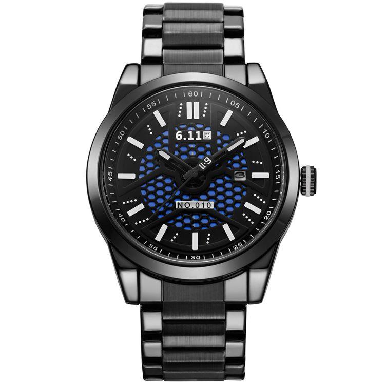 时尚NO-010光波防水节能环保日历光电手表光能手表 男士钢带手表