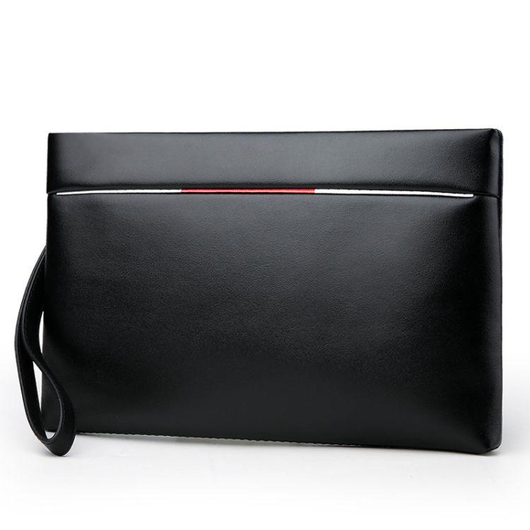 2018年新款时尚男士PU手拿包 简约大气长款钱包 大容量零钱包